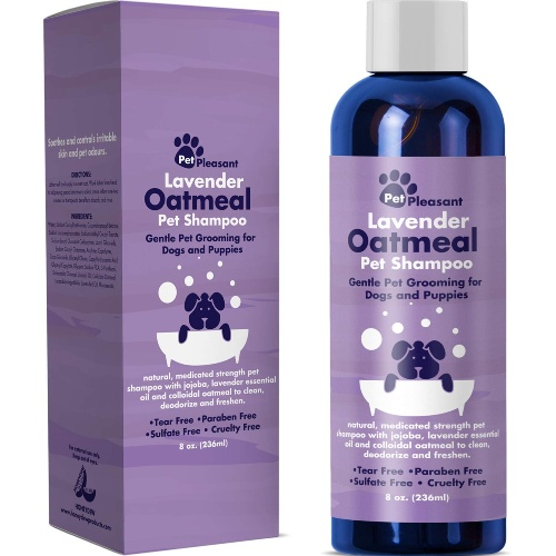 Colloidal Oatmeal Dog Shampoo with Pure Lavender Essential Oils